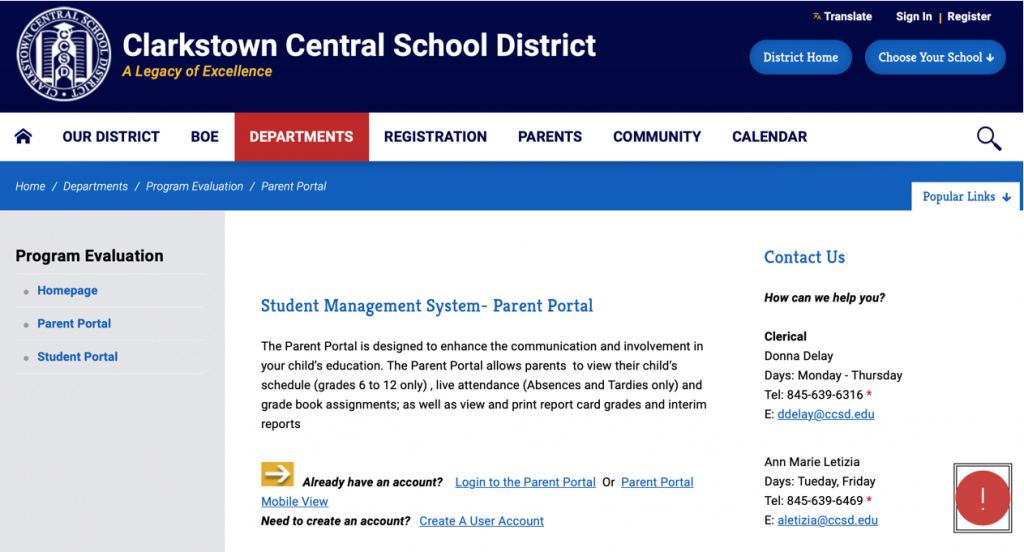 Review on the Parent Portal
